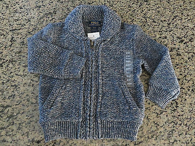Polo RALPH LAUREN Infant Baby Shawl Collar Cardigan Sweater Size 6