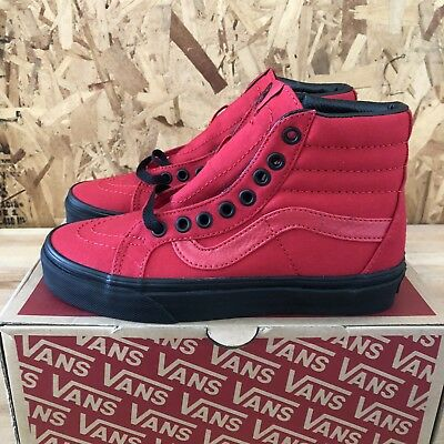 d828d880ad8f Vans Sk8 Hi Reissue (Black Outsole) Racing Red   Black Size Mens 6 Womens