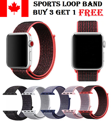 Sports Loop Band For Apple Watch Nylon Woven Strap For iWatch Series 4 3 2 1