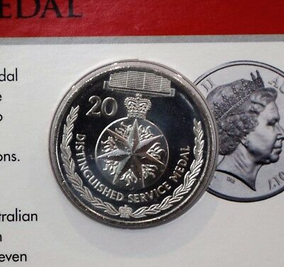 2017 Legends of the ANZACS Distinguished Service Medal 20 cent coin