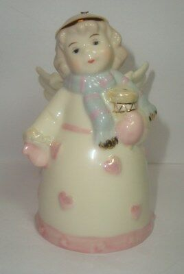 Beautiful Porcelain ANGEL BELL Ornament -  By Baum Brothers FORMALITIES - NICE!!