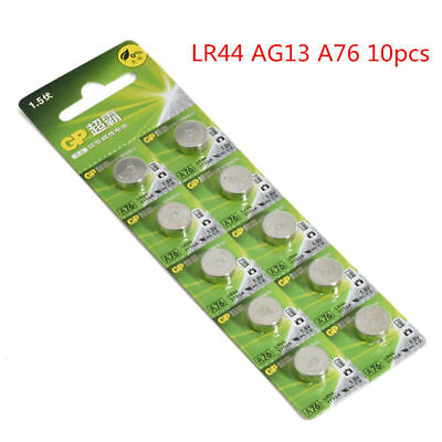 10 x GP A76 LR44 1.5V Batteries L1154 AG13