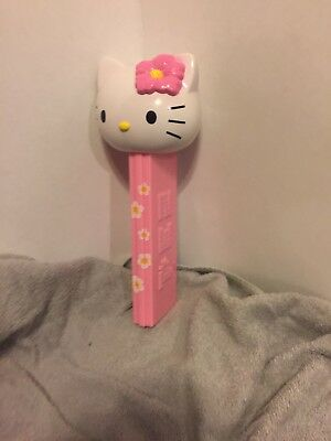 Hello Kitty Pez Dispenser Toy Collectible Girls Pink Floral Giant Empty