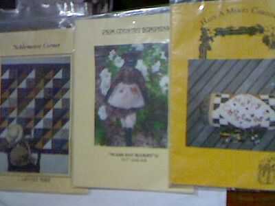 Quilting/Sewing Patterns X 3 Bolster, Wall Hanging & Mammy Doll