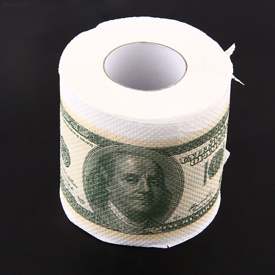 B238 Creative Toilet Paper $100 One Hundred USD Dollar Bill Money Roll Soft Toy