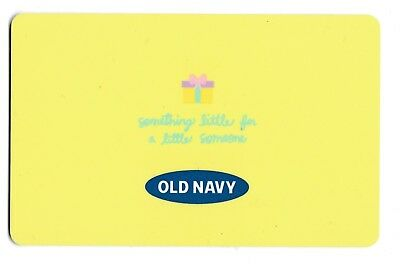 Old Navy collectible gift card no value mint #12 Yellow