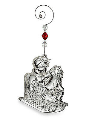 2013 Waterford CHRISTMAS WONDERS Ornament  ( child & dog on sled )  NEW / Box