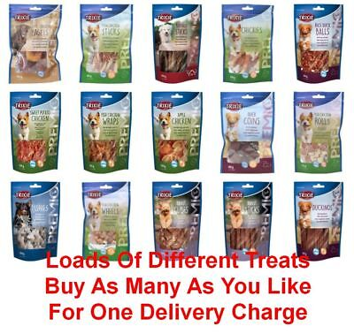 NEW Trixie Premio Dog Treats Fish Lamb Chicken Sprats - Huge Choice Of Flavours