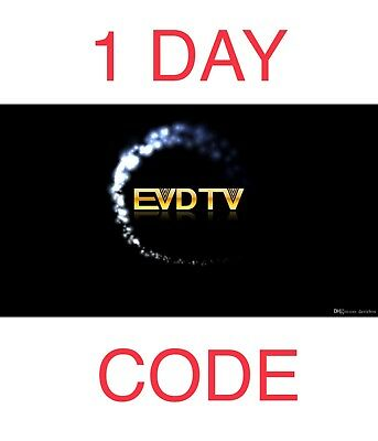 EVDTV IPTV LIVE TV+VOD ANDROID BOX, PHONE, MAG25X, ENIGMA2, M3U for 1 DAY