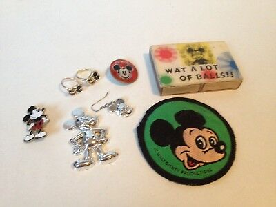 VINTAGE walt disneys products mickey mouse CLUB RING PINS BADGE set 1970s MORE