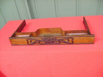 """ANTIQUE""""SINGER TREADLE SEWING MACHINE Front CADDY Drawer 1919 this one pulls out"""