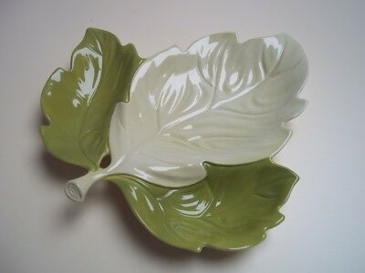 Vintage Carlton Ware Sycamore Leaf shaped Divided Serving Dish 50s 60s