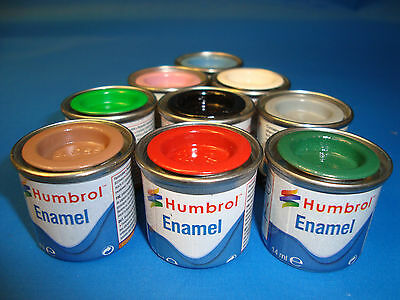 HUMBROL TINLET 14ml MODEL ENAMEL MATT PAINT   No 1 - 78