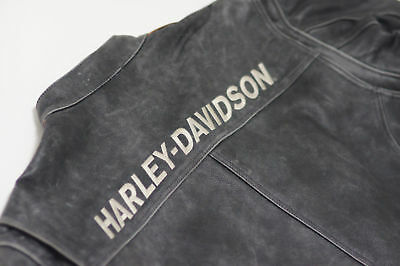 Men's Real Black Leather Biker Vintage Jacket Harley Motorcycle Genuine Cow Hide