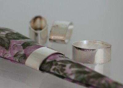 Silver Small Napkin Rings 4 Pieces 800
