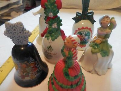 AVON  Vintage 1981 1983 1987 1989 1990 1991  Porcelain Collection Bells