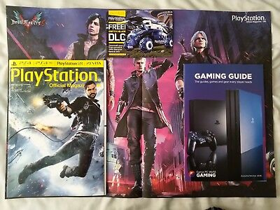 PlayStation Magazine #155 December 2018 + Devil May Cry poster + Switchblade DLC