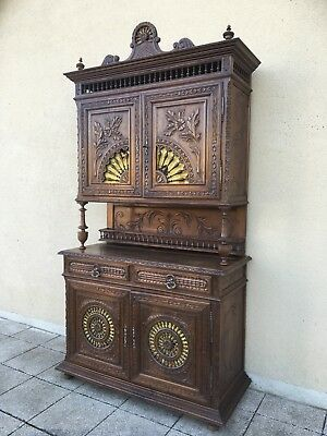 Antique French Breton Buffet Kitchen Dresser Deux Corps FREE DELIVERY
