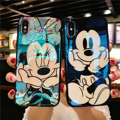 Blue Light 3D Disney Mickey Minnie Soft TPU Case Cover For Iphone 6 6S 7 Xs Max