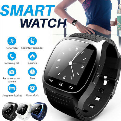 Waterproof Wrist Bluetooth Smart Watch Phone Mate For Android Samsung Sony iOS