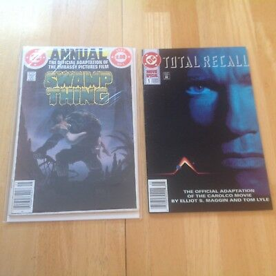 Swamp Thing 1982 And Total Recall 1990 Movie Adaptions DC