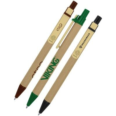 200 Custom Eco-Friendly Recyclable Pens, Bulk Promotional Products, Personalized