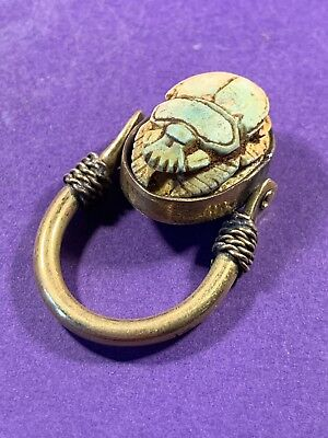 Circa 770-330Bc Ancient Egyptian Gold Colour - Possibly Gold Guild Scarab Ring