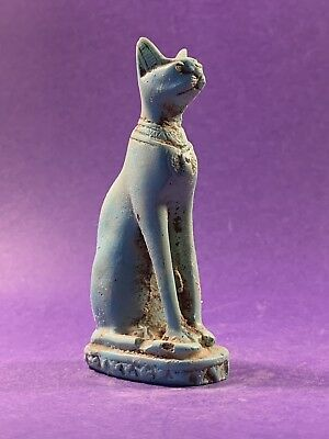 Beautiful Item - Ancient Egyptian Bastet Statuette - Circa 1075-332Bc