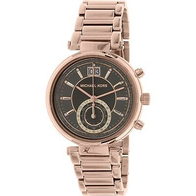 e06975347e5e Michael Kors MK6226 Sawyer Grey Dial Rose Gold Plated Stainless Women s  Watch