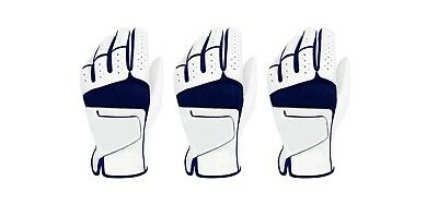 ***New***  (3) Mens All Cabretta Leather Golf Gloves (Left Hand)