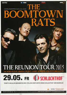 The Boomtown Rats - Live On Tour, Wiesbaden 2015 | Konzertplakat | Poster