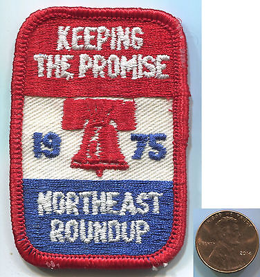 P119 BSA Boy Scouts, Northeast Roundup 1975 Liberty Bell, Keeping Promise, patch