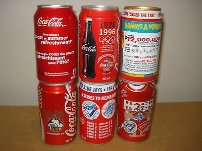 Assorted Collectible Coca-Cola Canada - Olympic, Blue Jays, Contest, Grey Cup