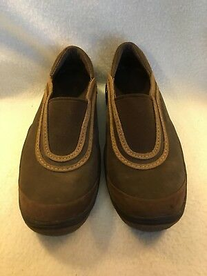 a3cd490018b9 Merrell Willow Chocolate Brown Leather Womens sz 7.5 Slip On Loafers Flats  Shoes
