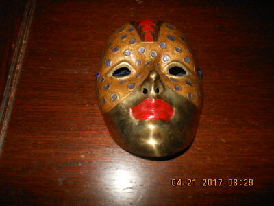 Brass Mask  Oriental, Asian, Chinese Opera  Wall Art, Wall Hanging