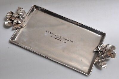 """Charla Ilgner Calif. Hand Wrought Silver Plate Tray """"Feagans Tournament 1937"""""""