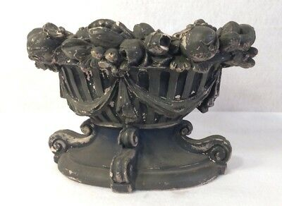 Vintage Antique Distressed Garden Urn Planter Signed 1922 Jourdan Herbst