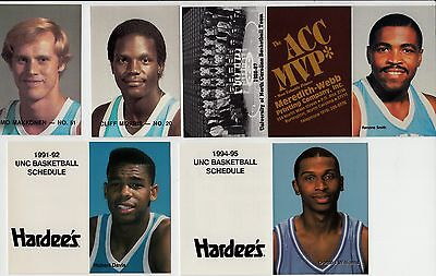 Lot of 27 different UNC North Carolina Tar Heels pocket basketball schedules