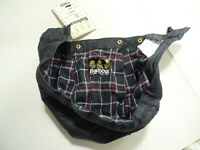 Barbour-  A107 Waxed Cotton Hood- Navy- Made In Uk -New Old Stock W/tag- Large