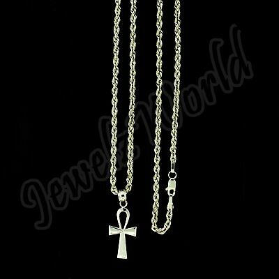 Details about  /Real 10K Yellow Gold Jesus Cross Charm Pendant Diamond Cut /& 2mm Rope Chain