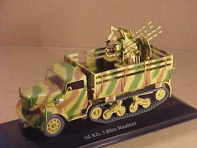 Editions Atlas #7490001 1/43 Pressofuso Sd.kfz. 3 Maultier With 2cm Flakvierling