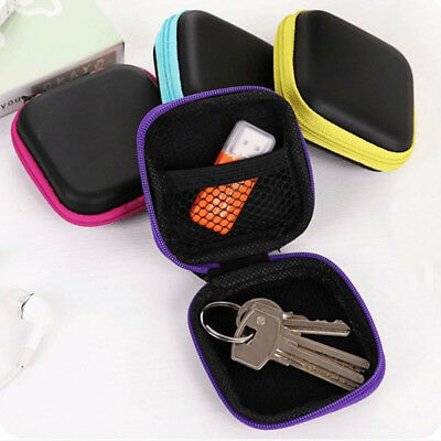 Portable Carrying Headphone Earbud Pouch Earphone Storage Case Bag SD Card MKR