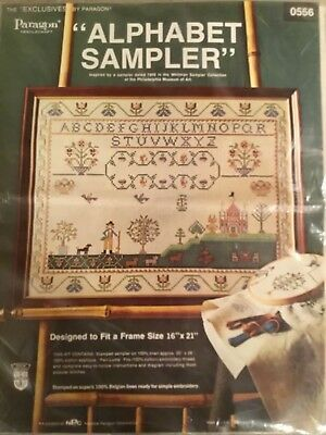 Vintage Paragon Stamped Cross Stitch Kit - ALPHABET SAMPLER