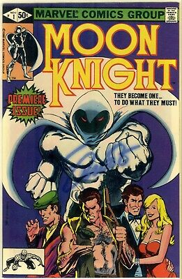 Moon Knight #1 * Origin * Marvel Comics 1980 * Autographed Signed by Jim Shooter