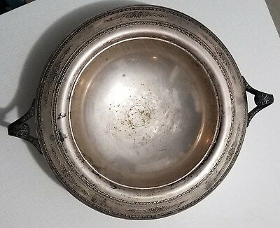 Beautiful Vintage Silver Plated Bowl By W. M. Mounts Free S&H