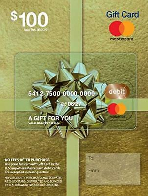 Master GiftCard $100-US Shipping Direct from US Commercial Retailer to your door
