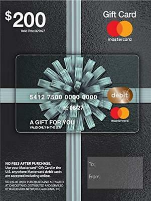 Master GiftCard $200-US Shipping Direct from US Commercial Retailer to your door