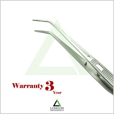 Self Locking Tweezers Serrated Tip Curved Cotton & Dressing Forceps Ortho Pliers