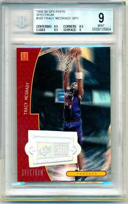 1998-99 Spx Finite Tracy Mcgrady Spectrum #165 Bgs 9 Mint 43/75 C671