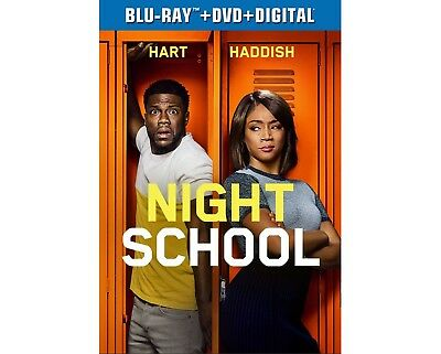 NIGHT SCHOOL Blu-ray/DVD/Digital (CASE, SLIP COVER, CODE, & ALL DISC)